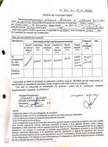 Oferta de vinzare teren MODREA AURORA ȘI AURORA DUMITRU